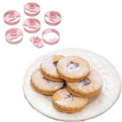 Jam Sandwich Biscuit Cutters | Linzer Cookies | Set of 6 | Buy Online | UK